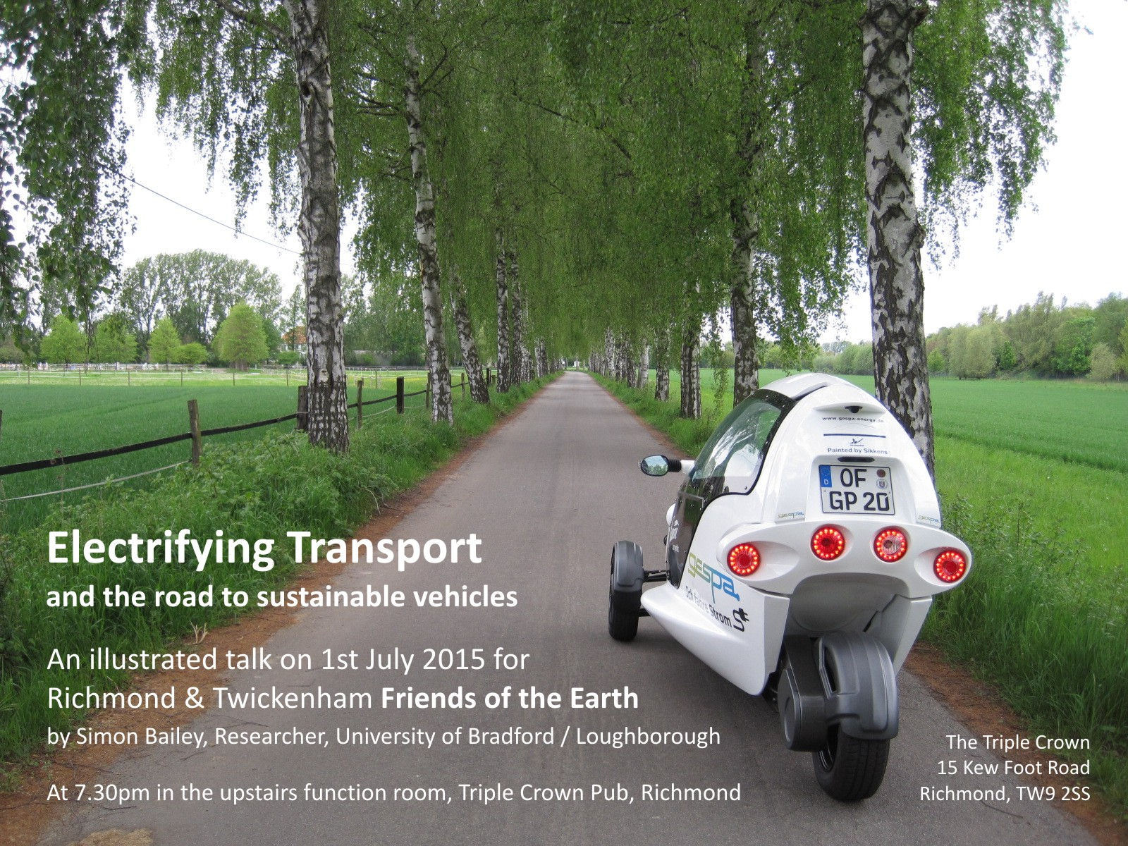 Electryfying Transport Talk 1st July