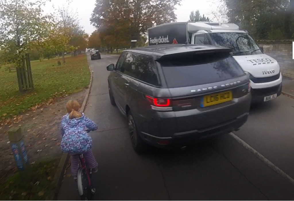 The close pass experienced by the daughter of our borough coordinator.