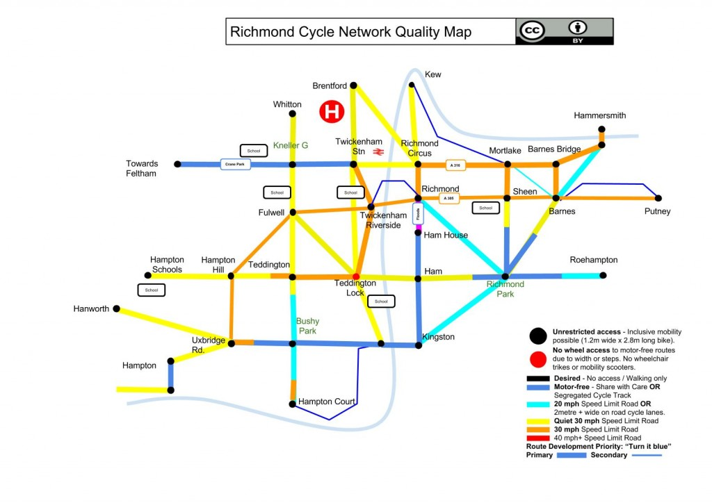 Richmond Cycle Tube Map