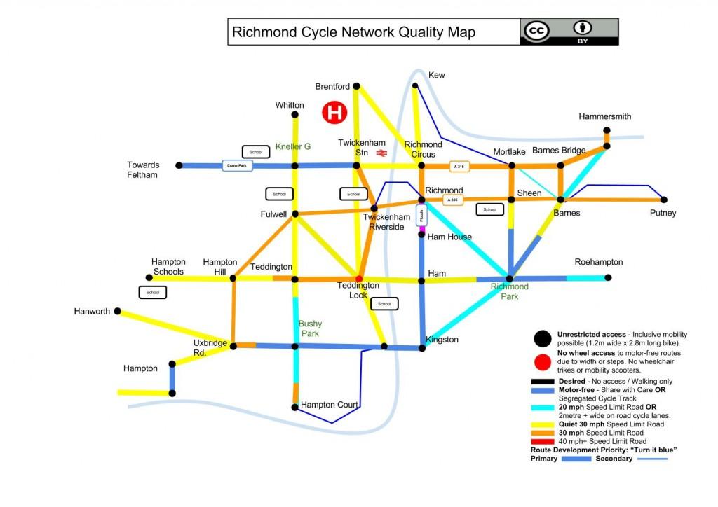 Richmond Cycle Tube Map