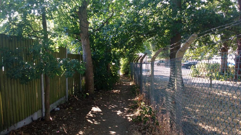 Burtons -railway path