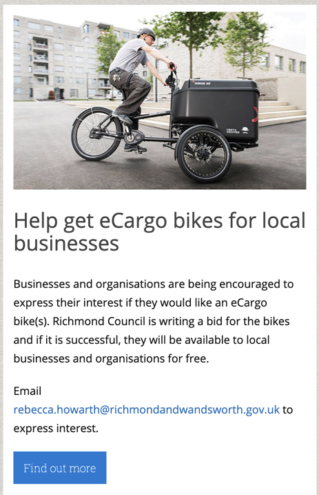Richmond cargo bike flyer